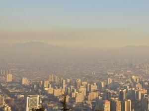 Poluição atmosférica em Santiago Foto: Lucas Conrado
