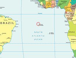 Localização Ilha de Ascensão