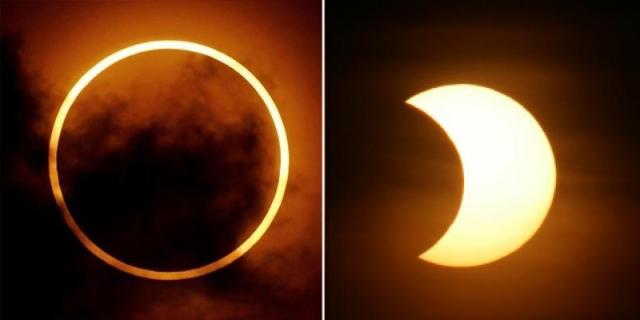 eclipse solar anular e parcial
